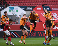 8th July 2020; Ashton Gate Stadium, Bristol, England; English Football League Championship Football, Bristol City versus Hull City; Tom Eaves of Hull City heads home the corner kick to score in the 61st minute 2-1