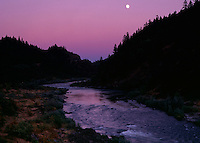 Nightfall brings tranquility over the Rogue River in Oregon. Only a few lucky winners of BLM's annual lottery can continue into the Wild and Scenic portion as it rushes toward the Pacific Ocean near Gold Beach.