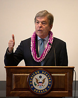 United States Senator Roy Blunt (Republican of Missouri) speaks about Hawaiian small businesses on Capitol Hill in Washington D.C. on June 12, 2019. Photo Credit: Stefani Reynolds/CNP/AdMedia