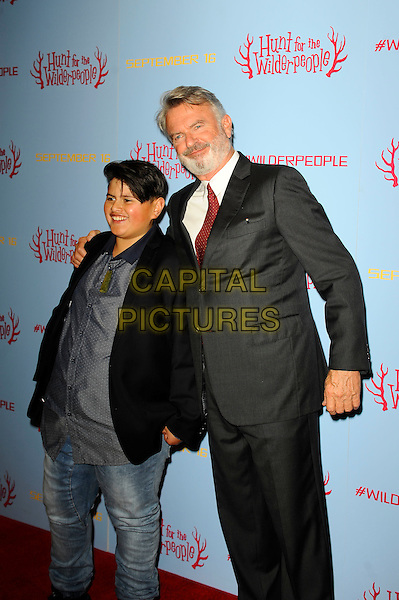 LONDON, ENGLAND - SEPTEMBER 13: Julian Dennison and Sam Neill attending 'Hunt For Wilder People' UK Premiere at Picturehouse Central on September 13, 2016 in London, England.<br /> CAP/MAR<br /> &copy;MAR/Capital Pictures