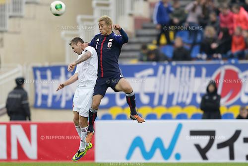 Keisuke Honda (JPN), OCTOBER 15, 2013 - Football / Soccer : International friendly match between Belarus 1-0 Japan at Torpedo Stadium, Zhodino, Belarus. (Photo by AFLO) [2268]