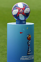 20190624 - REIMS , FRANCE : illustration picture shows the official match ball for the round of 16 during the female soccer game between Spain and USA , a knock out game in the round of 16 during the FIFA Women's  World Championship in France 2019, Monday 24 th June 2019 at the Stade Auguste Delaune Stadium in Reims , France .  PHOTO SPORTPIX.BE | DIRK VUYLSTEKE