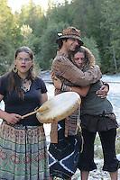 Sacred Water Ceremony. Glacier Creek, BC