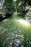 People swim in the channels of englischergarten or english garden in Munich, Germany, July 31, 2008. (ALTERPHOTOS/Alvaro Hernandez)