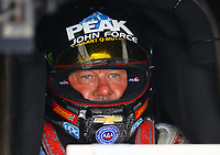 Apr 21, 2018; Baytown, TX, USA; NHRA funny car driver John Force during qualifying for the Springnationals at Royal Purple Raceway. Mandatory Credit: Mark J. Rebilas-USA TODAY Sports