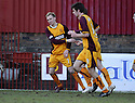 07/02/2009  Copyright Pic: James Stewart.File Name : sct_jspa12_motherwell_v_stmirren.STEPHEN HUGHES CELEBRATES AFTER HE SCORES.James Stewart Photo Agency 19 Carronlea Drive, Falkirk. FK2 8DN      Vat Reg No. 607 6932 25.Studio      : +44 (0)1324 611191 .Mobile      : +44 (0)7721 416997.E-mail  :  jim@jspa.co.uk.If you require further information then contact Jim Stewart on any of the numbers above.........