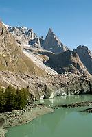 Glacier du Miage and Lac du Miage, September 2007