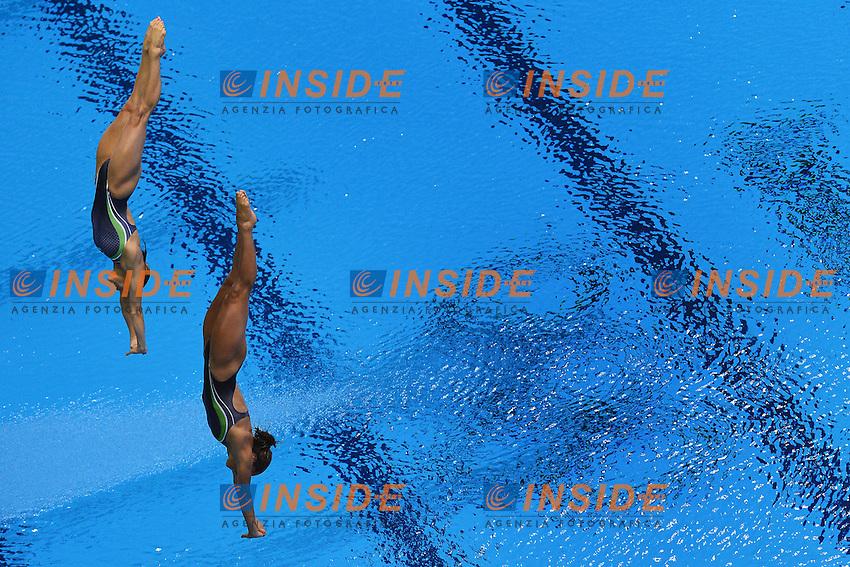 Tania Cagnotto e Francesca Dallape' Women's Synchronised 3m Springboard.London 29/7/2012 Casa Italia - Aquatics Centre.London 2012 Olympic games - Olimpiadi Londra 2012.Swimming - Nuoto.Foto Andrea Staccioli Insidefoto