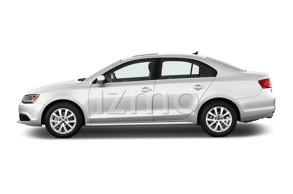 Driver side profile view of a 2013 Volkswagen Jetta S Sedan