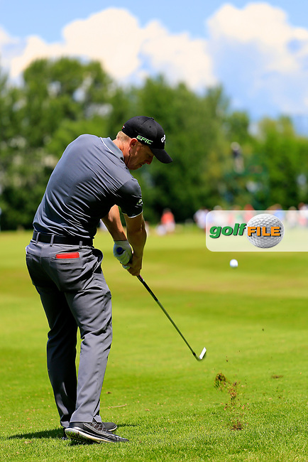 David Horsey (ENG) during the third round of the Lyoness Open powered by Organic+ played at Diamond Country Club, Atzenbrugg, Austria. 8-11 June 2017.<br /> 10/06/2017.<br /> Picture: Golffile | Phil Inglis<br /> <br /> <br /> All photo usage must carry mandatory copyright credit (&copy; Golffile | Phil Inglis)