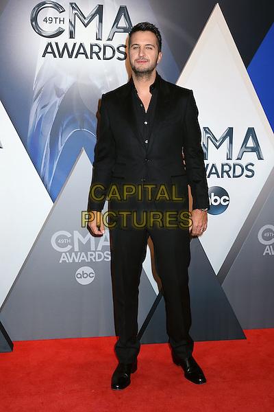 4 November 2015 - Nashville, Tennessee - Luke Bryan. 49th CMA Awards, Country Music's Biggest Night, held at Bridgestone Arena. <br /> CAP/ADM/LF<br /> &copy;LF/ADM/Capital Pictures