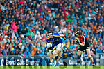 David Moran Kerry in action against Seamus O'Shea Mayo in the All Ireland Semi Final in Croke Park on Sunday.