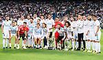Real Madrid's players during La Liga match between Real Madrid and Valencia CF at Santiago Bernabeu Stadium in Madrid, Spain August 27, 2017. (ALTERPHOTOS/Borja B.Hojas)