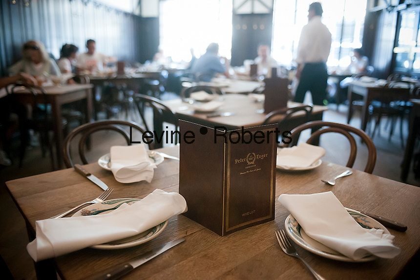 The Peter Luger Steak House in Williamsburg, Brooklyn in New York is seen on Tuesday, July 17, 2012. The classic American steakhouse, which is a family run business which originally opened in 1887, has recently been voted the best steakhouse in the United States by a panel of chefs and food critics put together by the USA Today newspaper. (© Richard B. Levine)