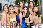 Rebecca O'Sullivan, Rachel Whelton, Lucy Wallace, Caroline O'Sullivan, Katie O'Connell, Kate Bisogno Kelly Cassidy,  (4th from left), pictured at Pobalscoil Inbhear Scéine, Kenmare Debs held at the Brandon Hotel, Tralee, on Friday night last.