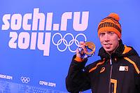 OLYMPICS: SOCHI: Adler Arena, febr. 2014, Winnaar Men's 10.000m, Jorrit Bergsma (NED), ©photo Martin de Jong