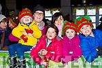 John and Ann Marie Diggin, Kate and Patricia Corbett, Ruth O'Molly and David Corbett  at the Kiilarney Christma parade on Saturday night