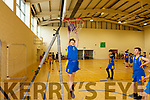 Mark Carmody of Balloonagh trying to hit the net at the  CBS Hoops Basketball bliz in the John Mitchels complex on Friday morning last.