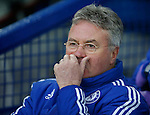 Chelsea manager Guus Hiddink during the Emirates FA Cup match at Goodison Park. Photo credit should read: Philip Oldham/Sportimage