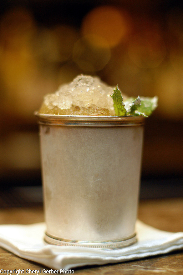 A mint julep is a classic drink in New Orleans, La., September 1, 2004...(CHERYL GERBER PHOTOS).