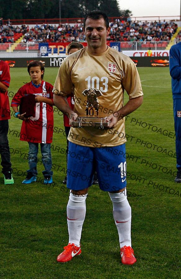 Serbia`s Dejan Stankovic during international friendly football game between Serbia and Japan, at Karadjordje stadium in Novi Sad, Serbia, Friday, Oct. 11, 2013. (credit: Pedja Milosavljevic  / thepedja@gmail.com / +381641260959)