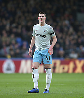 West Ham United's Declan Rice<br /> <br /> Photographer Rob Newell/CameraSport<br /> <br /> The Premier League - Saturday 9th February 2019  - Crystal Palace v West Ham United - Selhurst Park - London<br /> <br /> World Copyright © 2019 CameraSport. All rights reserved. 43 Linden Ave. Countesthorpe. Leicester. England. LE8 5PG - Tel: +44 (0) 116 277 4147 - admin@camerasport.com - www.camerasport.com