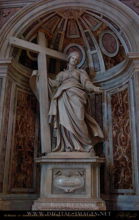 St Helena Northwest Pier Sculpture Andrea Bolgi 1639 St Peter's Basilica Rome