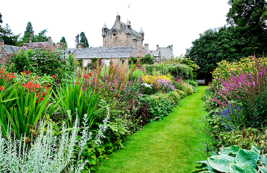 View of the gardens at Cawdor Castle, home to the Thane of Cawdor