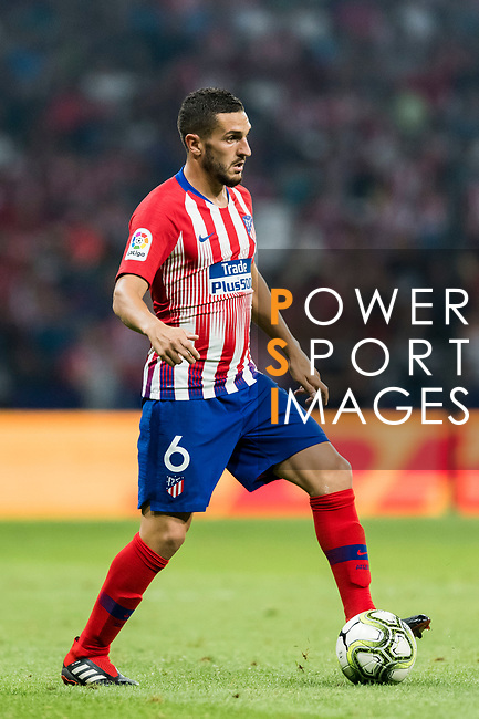 Jorge Resurreccion Merodio, Koke, of Atletico de Madrid in action during their International Champions Cup Europe 2018 match between Atletico de Madrid and FC Internazionale at Wanda Metropolitano on 11 August 2018, in Madrid, Spain. Photo by Diego Souto / Power Sport Images