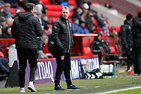 Fleetwood Town manager, John Sheridan during the Sky Bet League 1 match between Charlton Athletic and Fleetwood Town at The Valley, London, England on 17 March 2018. Photo by Carlton Myrie.
