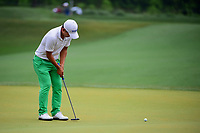 Sung Kang (USA) watches his putt on 3 during round 4 of the Shell Houston Open, Golf Club of Houston, Houston, Texas, USA. 4/2/2017.<br /> Picture: Golffile | Ken Murray<br /> <br /> <br /> All photo usage must carry mandatory copyright credit (&copy; Golffile | Ken Murray)