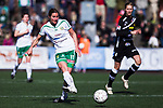 110410 Hammarbys Madeleine Tegstr&ouml;m under fotbollsmatchen i Damallsvenskan mellan Hammarby och Ume&aring; den 10 April 2011 i Stockholm. <br /> Foto: Kenta J&ouml;nsson<br /> Nyckelord: fotboll, damallsvenskan, hammarby, ume&aring;