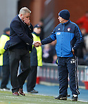 An emotional Ally McCoist at the final whistle