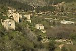 Israel, Jerusalem mountains, Abandoned Palestinian village in Jerusalem