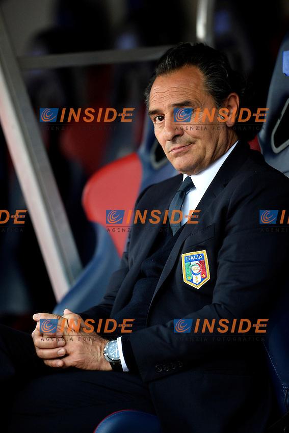Cesare Prandelli Italia allenatore coach<br /> Bologna 31/5/2013 Stadio Comunale <br /> Football Calcio 2012/2013 Amichevole Friendly match<br /> Italia Vs San Marino 4-0 <br /> Foto Andrea Staccioli Insidefoto