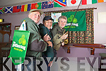 Members of the Abbeyfeale Anglers Association were Dee Dennison, Peter Dunworth and Gerdy Sheehy pictured at the launch of the Gathering Festival last Thursday night in The Winners Circle, Abbeyfeale.