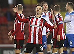 Stefan Scougall of Sheffield United during the English Football League One match at Bramall Lane, Sheffield. Picture date: November 22nd, 2016. Pic Jamie Tyerman/Sportimage