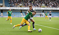 Preston North End's Sean Maguire and Millwall's Connor Mahoney<br /> <br /> Photographer Rob Newell/CameraSport<br /> <br /> The EFL Sky Bet Championship - Millwall v Preston North End - Saturday 3rd August 2019 - The Den - London<br /> <br /> World Copyright © 2019 CameraSport. All rights reserved. 43 Linden Ave. Countesthorpe. Leicester. England. LE8 5PG - Tel: +44 (0) 116 277 4147 - admin@camerasport.com - www.camerasport.com