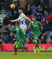 Brighton & Hove Albion's Davy Propper (right) battles with Watford's Gerard Deulofeu (left) <br /> <br /> Photographer David Horton/CameraSport<br /> <br /> The Premier League - Brighton and Hove Albion v Watford - Saturday 2nd February 2019 - The Amex Stadium - Brighton<br /> <br /> World Copyright © 2019 CameraSport. All rights reserved. 43 Linden Ave. Countesthorpe. Leicester. England. LE8 5PG - Tel: +44 (0) 116 277 4147 - admin@camerasport.com - www.camerasport.com