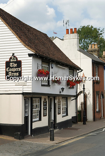 Rochester Kent Uk. Local public house The Coopers Arms, in St Margarets Street.