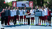 Stanford Tennis M vs UCLA, April 9, 2017