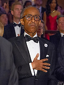 Reverend Al Sharpton stands at attention as the National Anthem is played to open the 2018 White House Correspondents Association Annual Dinner at the Washington Hilton Hotel on Saturday, April 28, 2018.<br /> Credit: Ron Sachs / CNP<br /> <br /> (RESTRICTION: NO New York or New Jersey Newspapers or newspapers within a 75 mile radius of New York City)