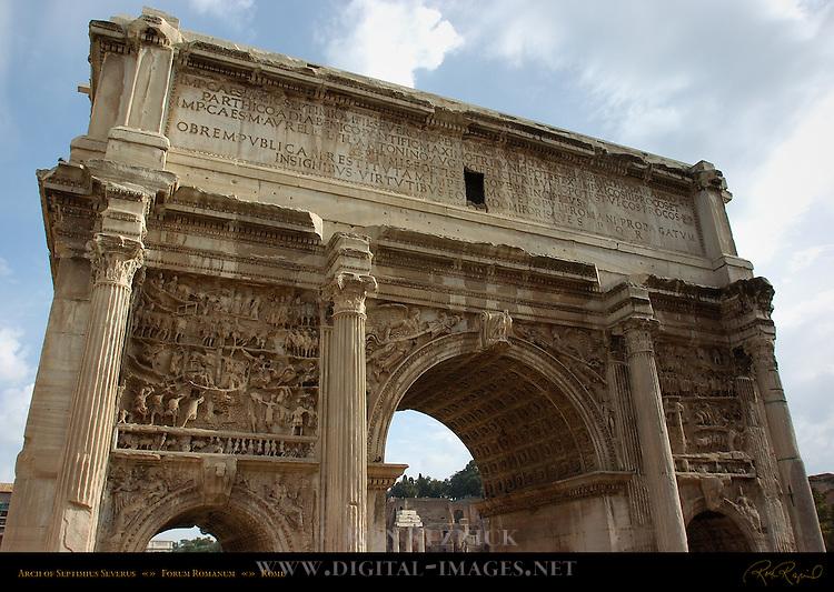 Arch of Septimius Severus 203 AD Capitoline Side Forum Romanum Rome