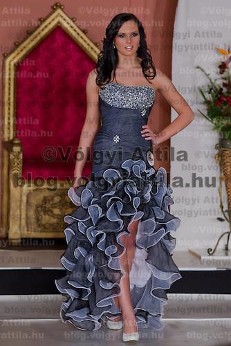 Antonia Csehi participates the Miss Hungary beauty contest held in Budapest, Hungary on December 29, 2011. ATTILA VOLGYI