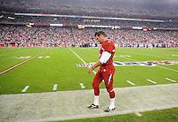 Dec 6, 2009; Glendale, AZ, USA; Arizona Cardinals kicker Neil Rackers against the Minnesota Vikings at University of Phoenix Stadium. The Cardinals defeated the Vikings 30-17. Mandatory Credit: Mark J. Rebilas-