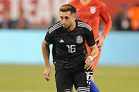 EAST RUTHERFORD, NJ - SEPTEMBER 7: Hector Herrera #16 of Mexico during the game during a game between Mexico and USMNT at MetLife Stadium on September 6, 2019 in East Rutherford, New Jersey.