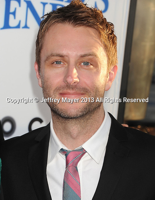 HOLLYWOOD, CA- AUGUST 21: Actor Chris Hardwick arrives at the Los Angeles premiere of 'The World's End' at ArcLight Cinemas Cinerama Dome on August 21, 2013 in Hollywood, California.