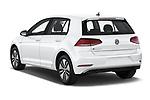 Car pictures of rear three quarter view of a 2019 Volkswagen e-Golf SEL Premium 5 Door Hatchback angular rear