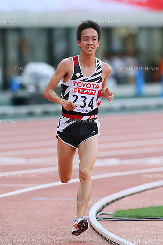 Tsubasa Hayakawa, <br /> JUNE 8, 2013 - Athletics : <br /> The 97th Japan Track &amp; Field National Championships <br /> Men's 10000m Final <br /> at Ajinomoto Stadium, Tokyo, Japan. <br /> (Photo by YUTAKA/AFLO SPORT)