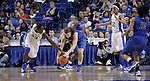 UK forward/center Samarie Walker and DePaul guard Anna Martin go for the ball during the second half of the women's basketball game v. Depaul University in Rupp Arena in Lexington, Ky., on Sunday, December 7, 2012. Photo by Genevieve Adams | Staff